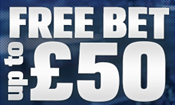 Sportsbook: £50 free bet